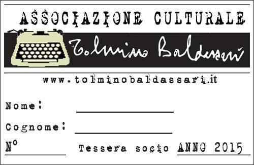 Tessera socio Associazione Baldassari 2015